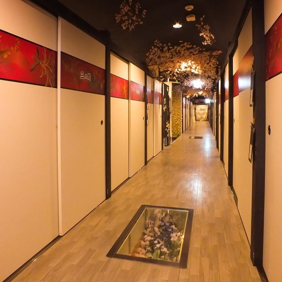 整個商店有270個座位!私人房間可供2至100人使用。