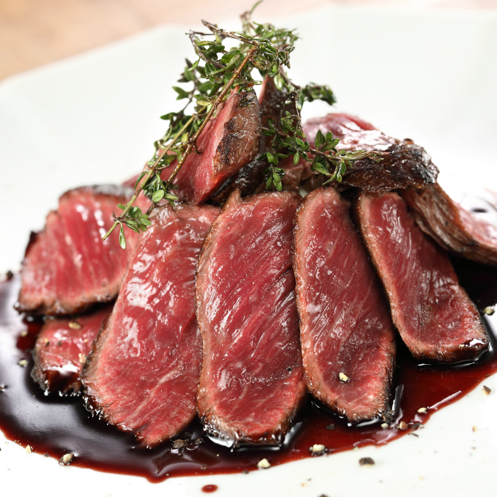 牛ハラミステーキ 赤ワインソース