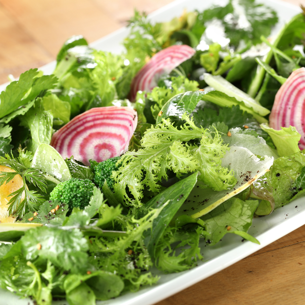 Simple salad of local vegetables
