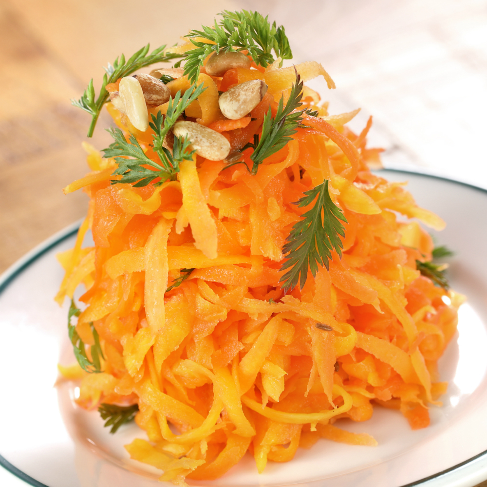 Marinated salad with carrots