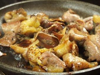 烤日本面鸡烤桃子竹