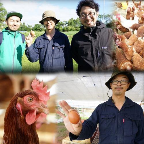 当店では当別町のFarm Agricolaより平飼い有精卵を使用