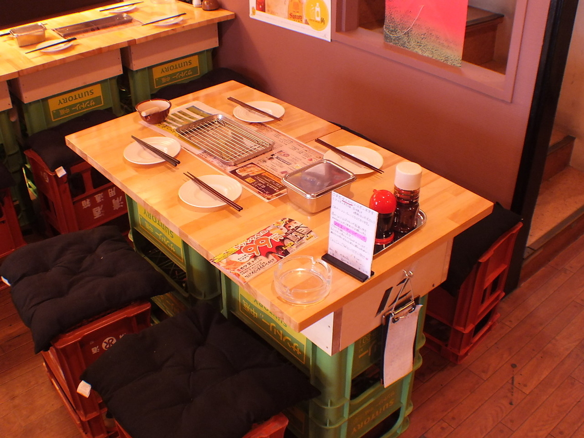【1st floor】 4 people can move to the seat for a large banquet as it moves easily ♪ 【Izakaya Kushikatsu Yamato Drink All you can eat as you want】