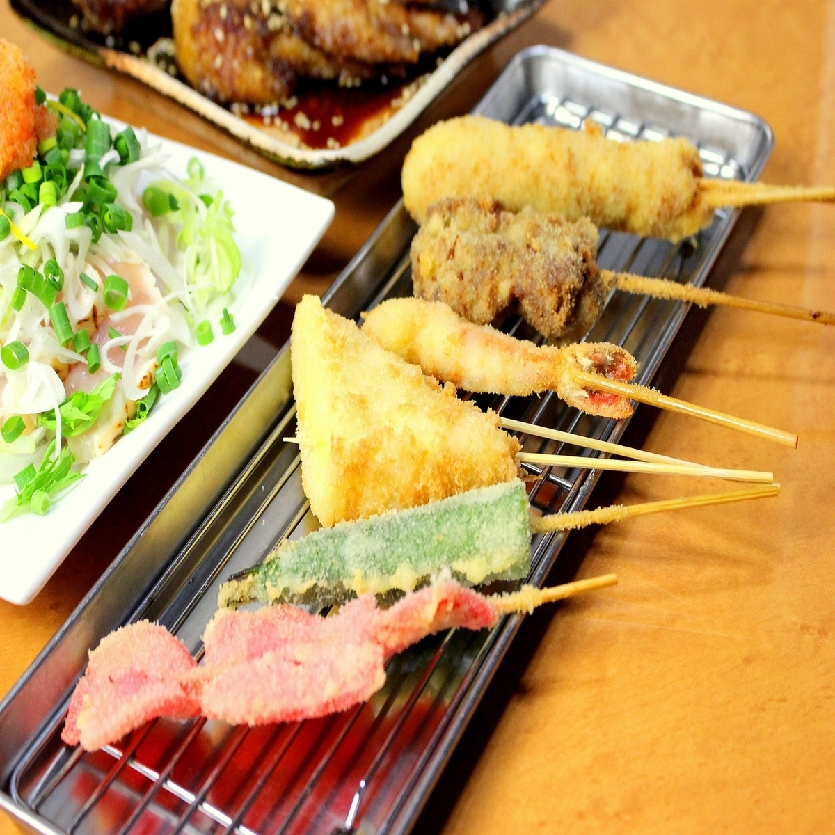 More than 40 kinds of skewers 90 yen ~ ♪