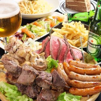 【Luxuriously gorgeous!】 All 16 items · 2H drinking with luxury banquet course 4000 yen ★ Meat flower festival · ripe with domestic beef ♪