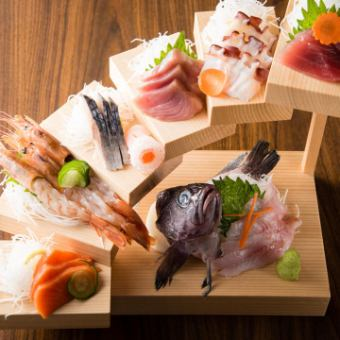 【Premium Banquet】 Akita direct sashimi, Honna chicken, Akita beef etc. Akita specialty <All 12 items> 【2h drinking attachment】 6000 yen