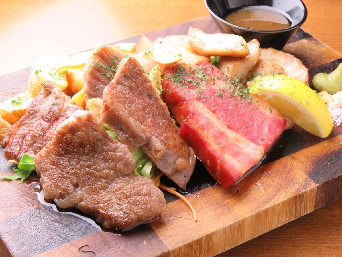 Halu特製お肉のプレート3種盛り