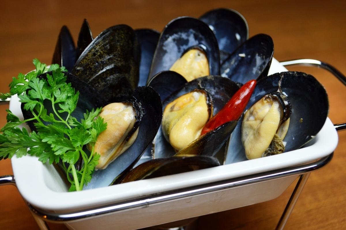 広島産 活きムール貝の白ワイン蒸し 小/大