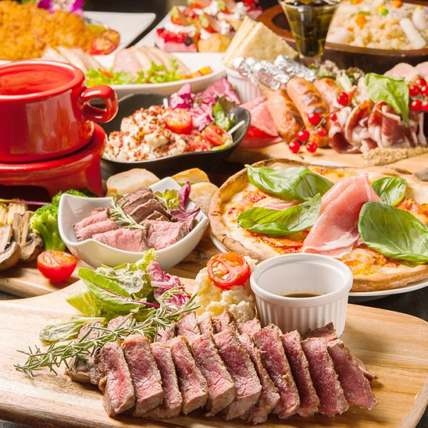 Recommended for farewell party ☆ Taste beef sirloin steak! Course with unlimited drinks ⇒ 2500 yen (tax included) ~ ♪