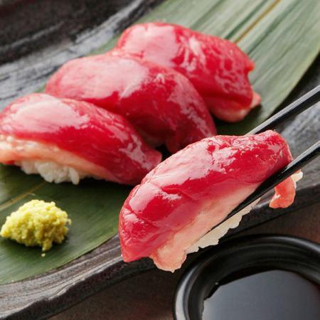 鴨ロースの握り寿司