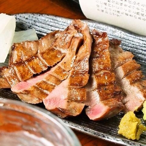 극상 두껍게 썬 쇠고기 숯불 구이 ★ 일인분 1380 엔 / 두 인분 2380 엔