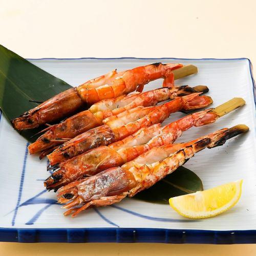 赤海老の串焼