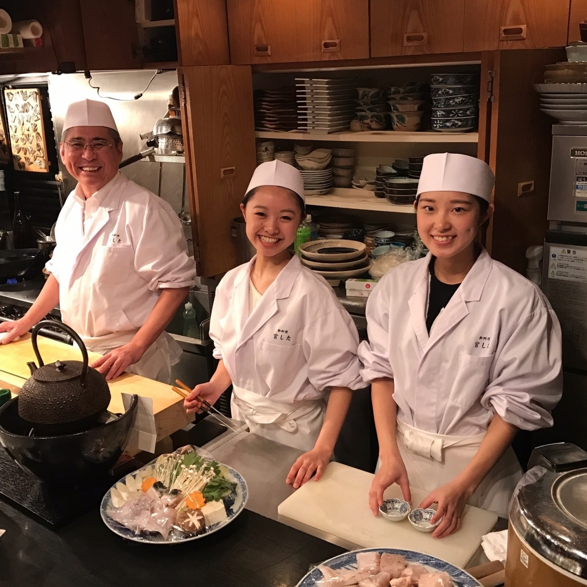 Cooking chief familiar with Japanese cuisine