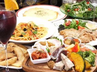 90 minutes all-you-can-drink & all-you-can-eat ham! Italian enjoyment course 4500 yen * seats 120 minutes system