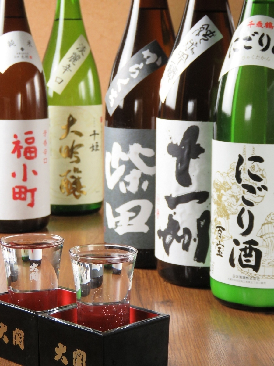 The variety of rich sake !!