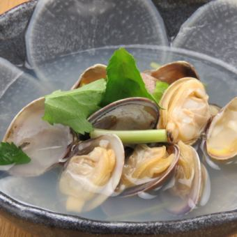 【Exquisite】 Tsuyuki! Steamed clams of clams