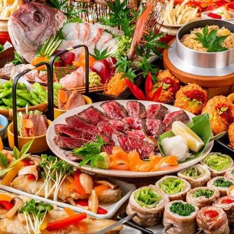 "Full all-you-can-drink for 3 hours in April! ""Mondeshi course"" <9 dishes> Beef steak, snow crab croquet and sashimi"