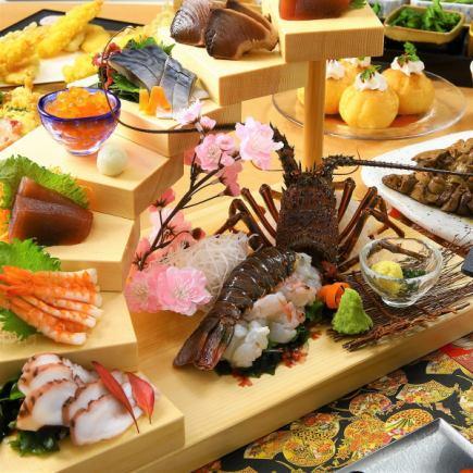 """4月3小时无限量畅饮""""极乐套餐"""" <10道菜>鸭烧牛肉,牛排,生鱼片"""