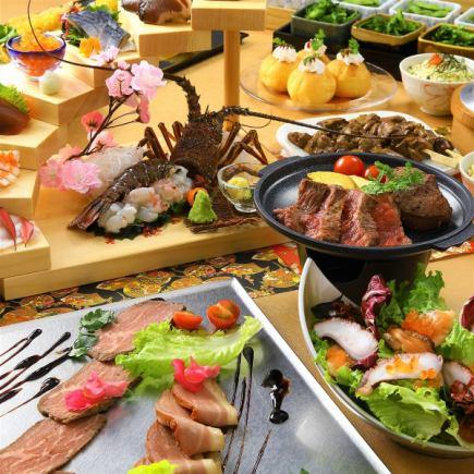 5月充実の飲み放題3時間!「極柚コース」〈料理10品〉合鴨とローストビーフ、ステーキ、お造り