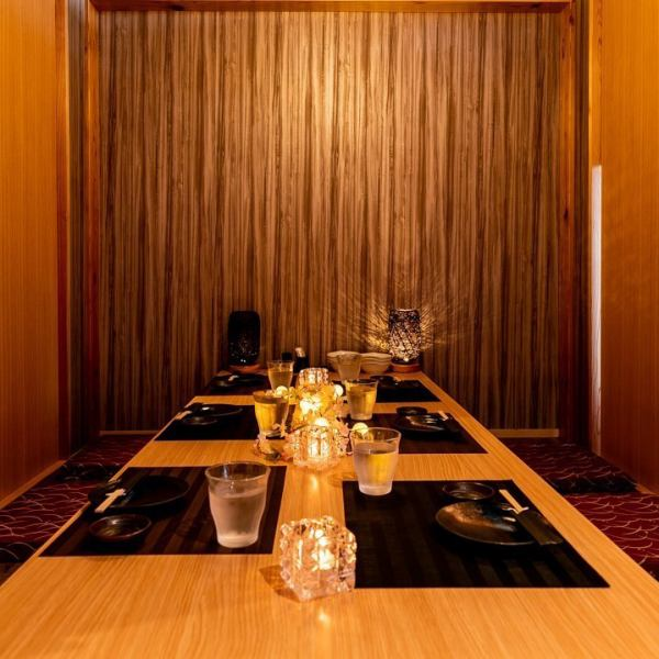 A tasteful Japanese modern private room ♪ There is also a relaxing digging private room where the warmth of wood is transmitted ☆ There is a variety of entertainment, date, banquet, alumni association, company banquet, secondary party, drinking party, joint party, girls party etc. We have prepared a private room that can be used in the scene and are waiting for you.※ It is an additional store with affiliated store.※ It is an additional store with affiliated store.