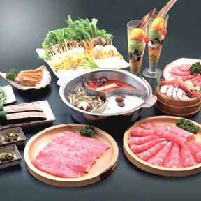 Hot pot ★ Shinkansen course (partly free) ⇒ 5980 yen (excluding tax)