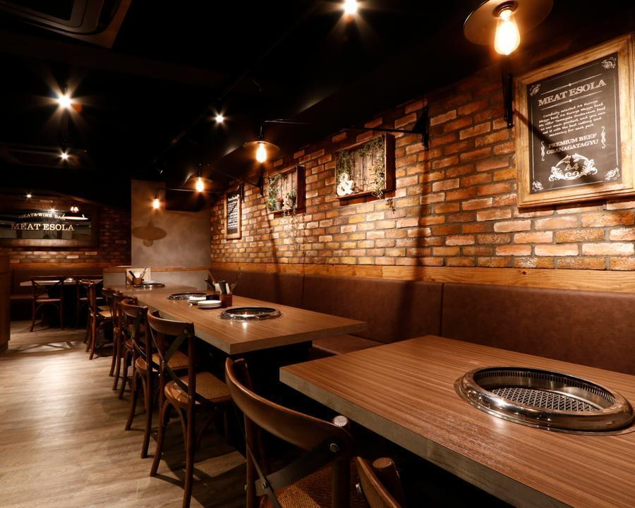 ★Yakiniku VIP床单【4~16人派对座位】女童会·宽敞的桌椅适合派对★