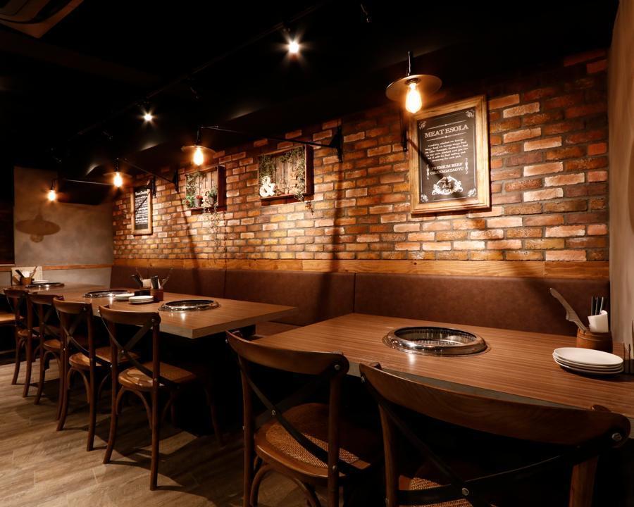★Yakiniku贵宾床单【4~18人派对席】派对座位享受烤肉即使大量★