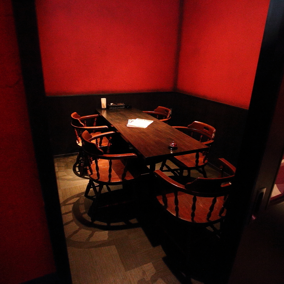 Private room seats up to 6 people