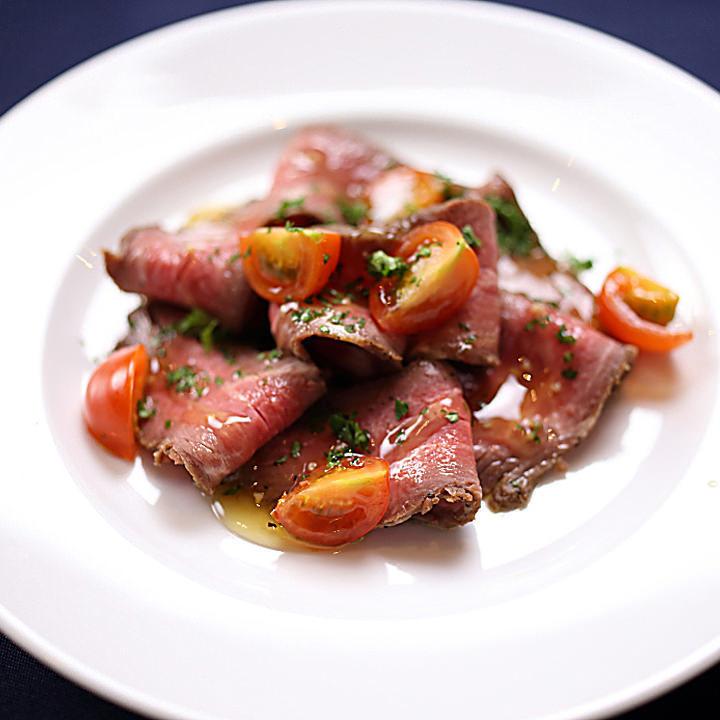 ローストビーフ フレッシュトマトの塩マリネ