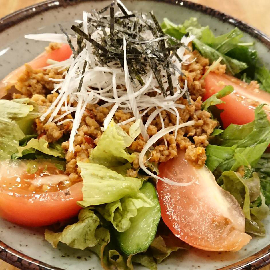 Spicy minced salad
