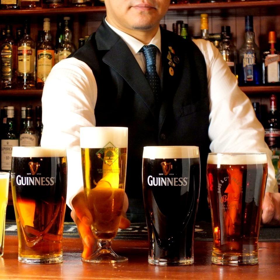 世界の生ビールが3種類!ビールを使ったお料理たちも★