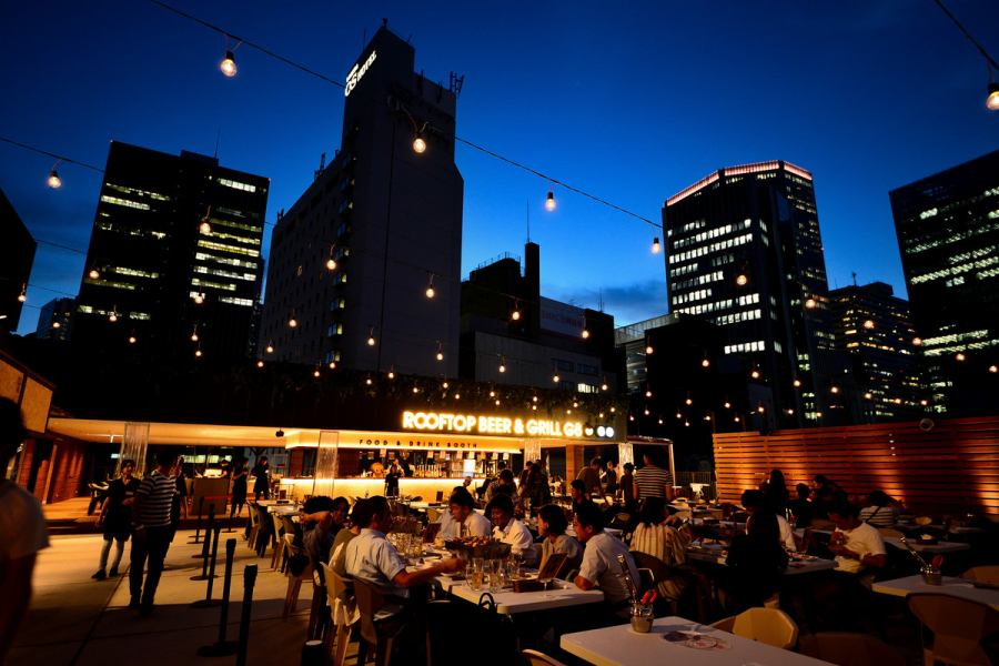 600 seats super big beer garden ♪ No matter how long you come when you buy buffet, you will always get over 10 kinds of drinks with unlimited drinks course from 1480 yen ~