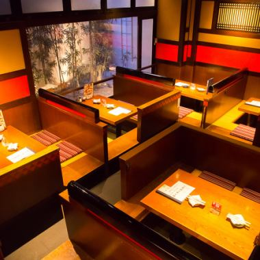 The inside of the store which reproduced the town of Edo, we prepared a lot of private rooms and zenkaku! Because it is calm atmosphere, it is perfect for dating, entertainment, meals with important friends.