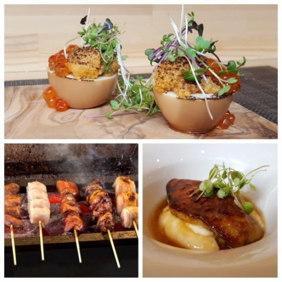 由法國學習的店主製作的法國和烤雞肉串的融合!澀谷可以品嚐到創意美食!