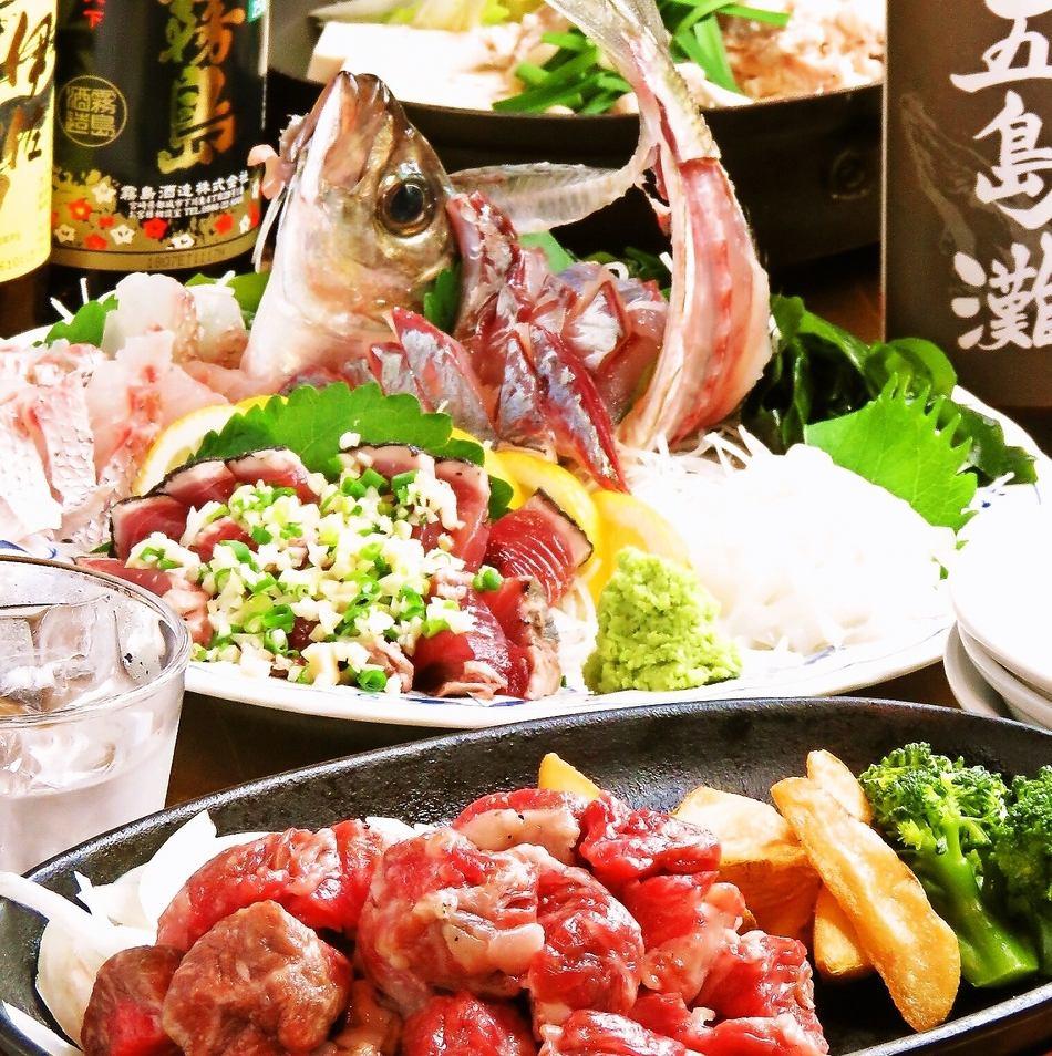 刺盛も鍋も長崎和牛ステーキも愉しめる酒趣庵コース¥4700