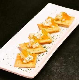柚子ジャムとクリームチーズのデッィプ 5枚