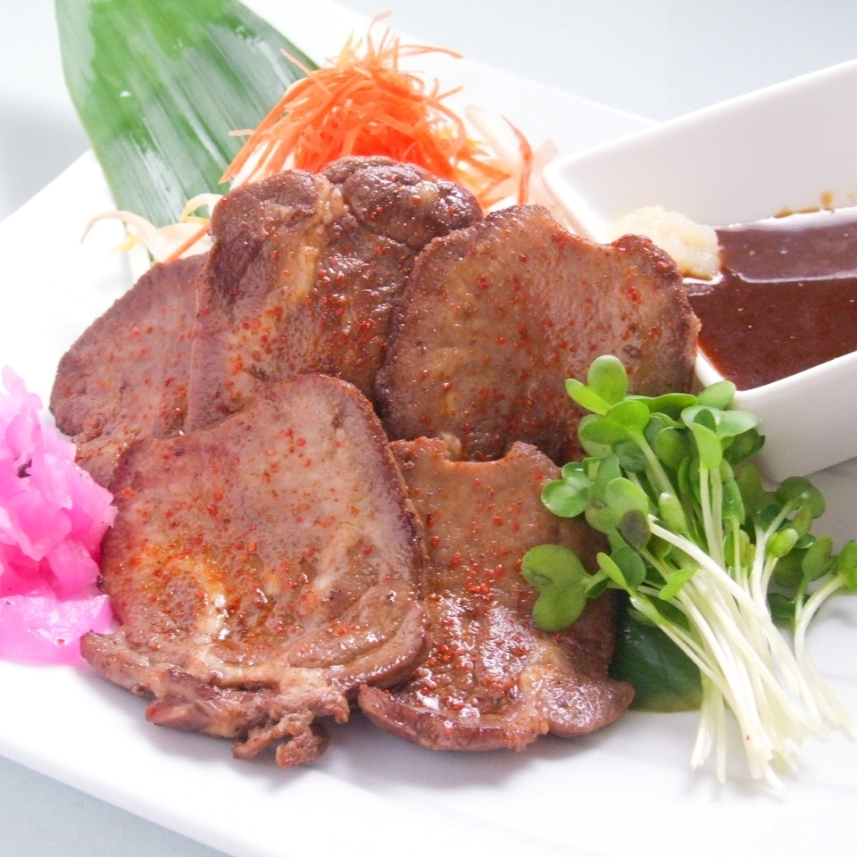 Thickly sliced ​​beef tender roe with spicy miso / thick cut beef tangerine onion salt grill