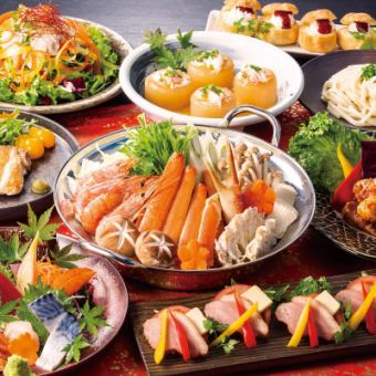 【神田河Toshiro监督·年终会议课程】★9件海鲜炊具+130种2H饮酒【6000→5000日元(含税)】