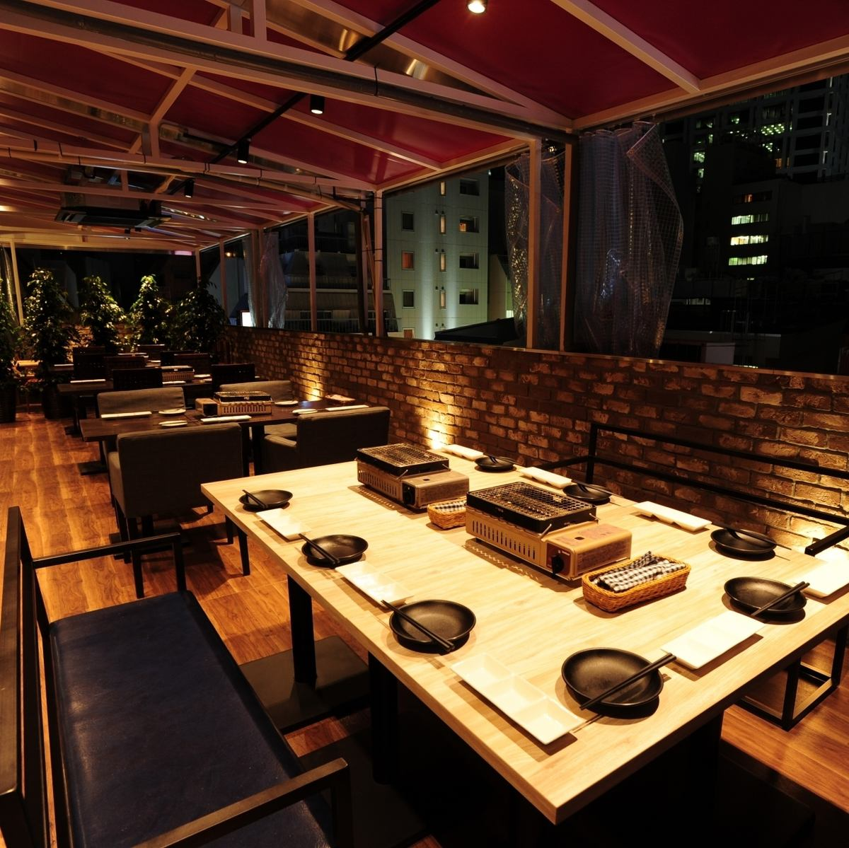 Terrace seating up to 60 people OK ♪ BBQ beer garden all you can drink 4000 yen ~