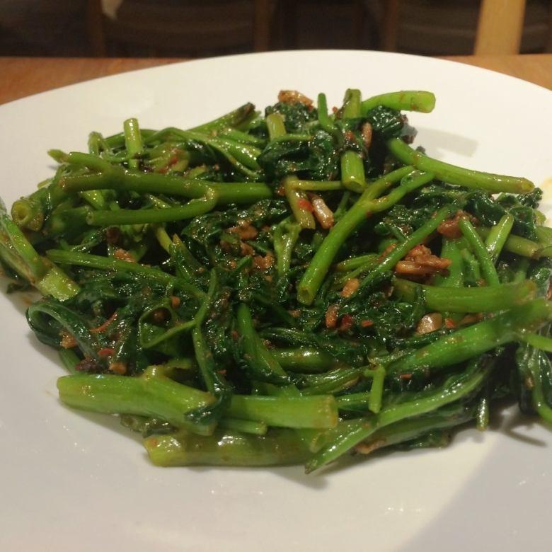 Fried sambal source of air-core greens