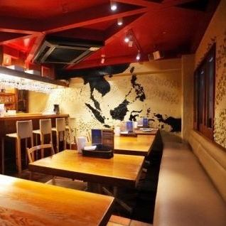 Delicious cuisine and the store you are bright staff, cozy in a well-time forget you can enjoy ♪ table seat, also for Wai Wai and his friends and colleagues congenial ◎