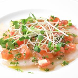 Today's fresh fish carpaccio carpaccio
