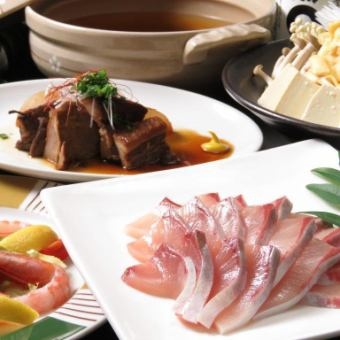 Buri Shabu-no-Nabe course 5000 yen 2.5 H with all you can drink & 1 person for 1 person free of charge