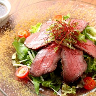 Roast beef salad fragrant spice