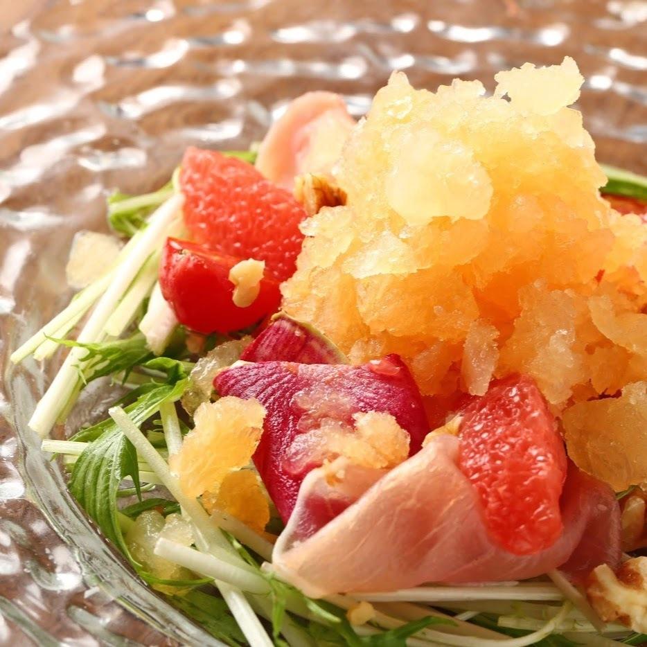 葡萄柚刨冰沙拉