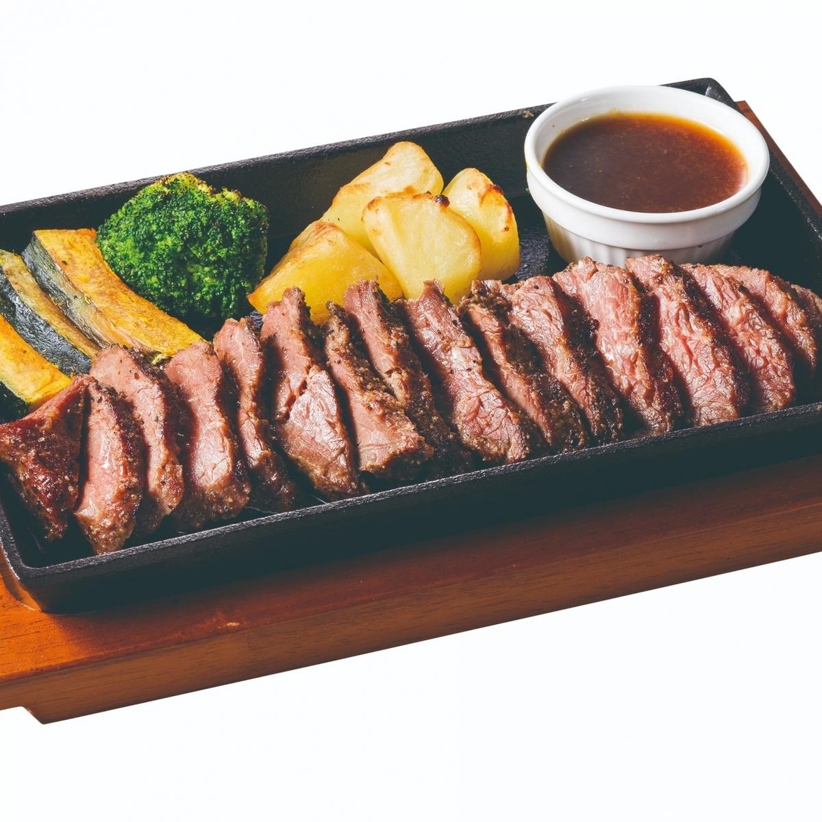 牛サガリの鉄板焼き