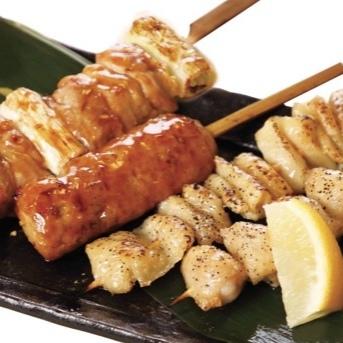 おまかせ串焼き盛合せ(4本)
