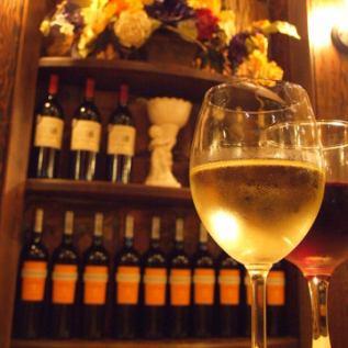 ワイン2000本完備