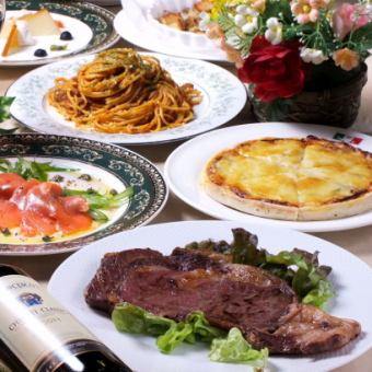 Must-see for meat !! [Sirloin steak luxury course] 2 hours with all you can drink all eight items 5000 yen