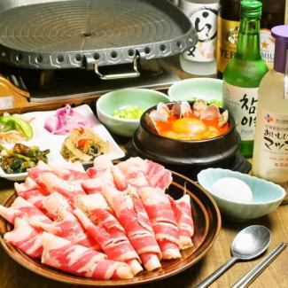 Chadorubagi (Korean style baked shabu) & mini pure tofu set